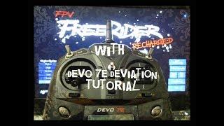Devo 7e Deviation with FPV Freerider Tutorial (also Devo 10)