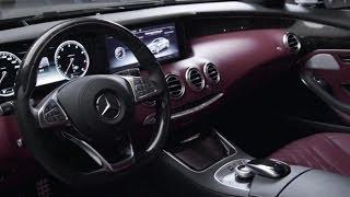 Смотреть онлайн Крутой кожаный салон автомобиля Мерседес Бенц