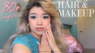 the 80s inspired hair & makeup tutorial nobody asked for