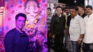 Sajid Nadiadwala Visits Ganpati Pandal Near His Childhood House & Meets His Chhichhore Friends