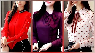 Best Stylish Chiffon Blouse Shirts And Blouses For Womens/best New Ideas Of Chiffon Blouse Tops