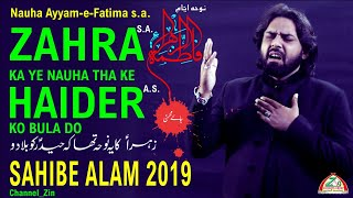 Sahibe Alam Zaidi | MANQABAT IMAM ALI a s  2019 | AAJ KHANA