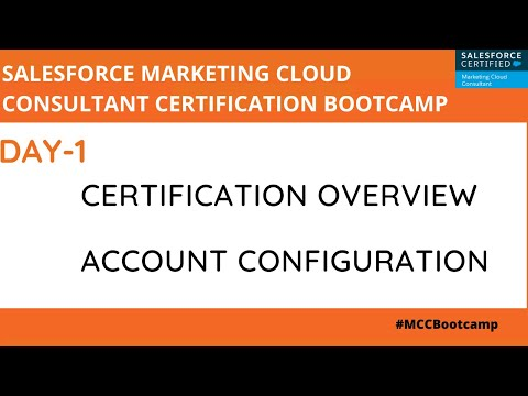 Marketing Cloud Consultant Certification Bootcamp - Day 1 ...