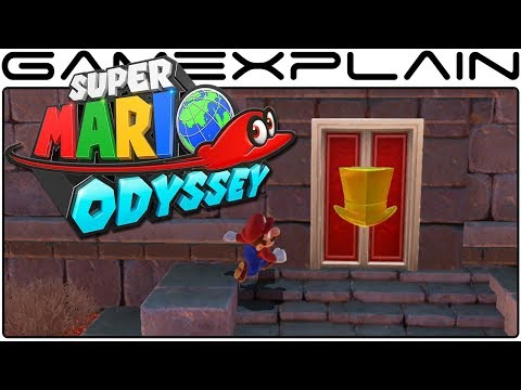 Super Mario Odyssey - Jaxi & Exploring Holes & Hidden Hat Doors in Sand Kingdom (Gameplay)