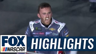 Austin Dillon Outlasts Jimmie Johnson in Fuel to Win at Charlotte | 2017 CHARLOTTE | FOX NASCAR - dooclip.me