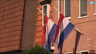 Veel Vlaggen Halfstok In Hilversum