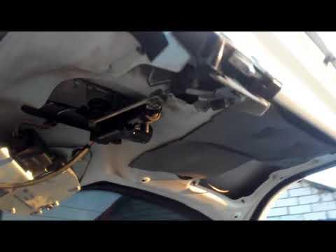 Как открыть багажник без ключа на Лада Калина и ремонт замка багажника!