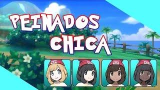 TODOS Los PEINADOS De CHICA En Pokémon Sol Y Luna