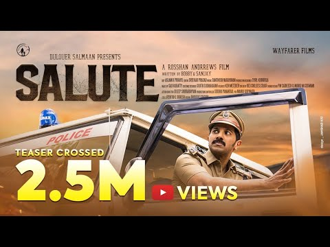 Salute Movie Teaser - Dulquer Salman, Roshan Andrews