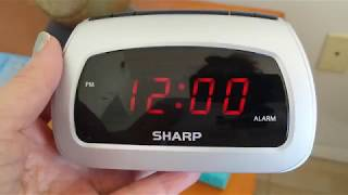 Sharp Alarm Clock - Setting the Time