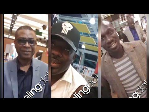 Vidéo-Bercy: Youssou Ndour et Pape Diouf dans le même vol