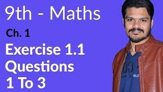 9th Class Maths, Exercise 1.1- Question no 1 to 3 - Math Ch 1 Matrices - Matric part 1 Maths