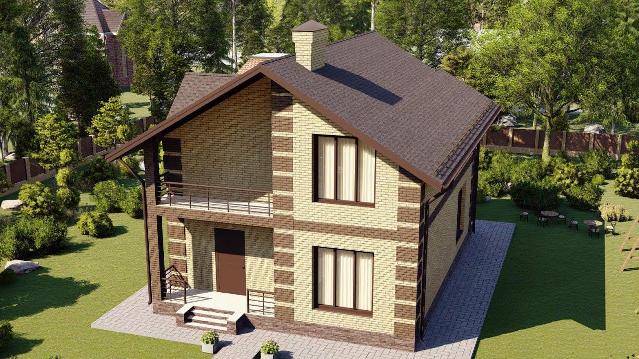 Проект небольшого дома из газобетона с мансардным этажом