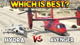 GTA 5 ONLINE : AVENGER VS HYDRA (WHICH IS BEST?)