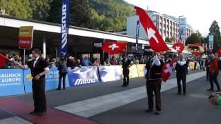 Jungfrau Marathon 2014 Fahnenträger