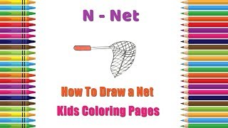 How To Draw Net Coloring Pages | Alphabets Coloring Pages | Baby Coloring Videos | Net Drawing