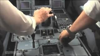 飛機降落~機長駕駛室  landing