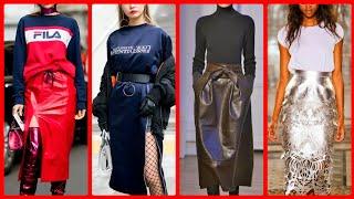 Unique Leather Pencil Skirts Design Ideas