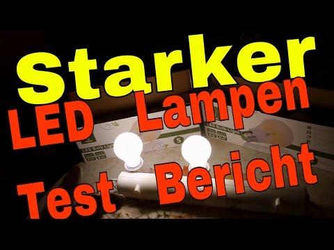 Starker LED Lampen Test Bericht 6 Watt und 8 Watt LED Lampen E27 Sockel