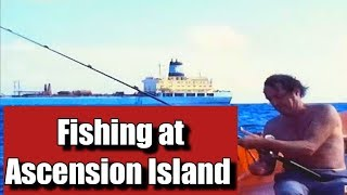 preview picture of video 'Ascension Island fishing on Lifeboat from  Maersk Ascension on 15 July 1984.'