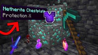 Minecraft, But Diamonds Drop OP ITEMS...