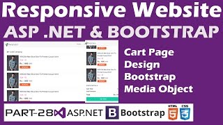 Responsive Website-ASP.NET&Bootstrap-Part 28-Online Shopping Site-Cart Page Design-Media Object