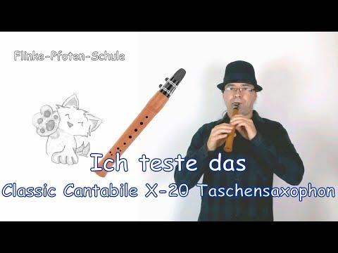 Das Saxonett - Vorstellung und Test des Classic Cantabile X-20 Taschensaxophon