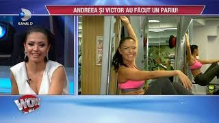 "WOWBIZ (19.06.2017) - Andreea Mantea si Victor Slav, tandri la sala! Cum au lucrat "" la patratele"""