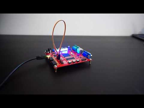 Video of SPI loopback example design