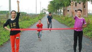 Kompetisi anak-anak menjalankan cerita kura-kura dan kelinci | Mainan dan lagu anak-anak