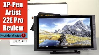 XP Pen Artist 22E Pro Pen Monitor Display Review