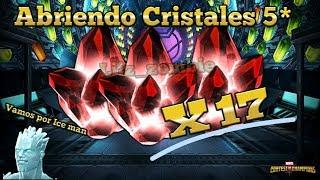 Abriendo 17 Cristales 5 Estrellas (Vamos por Ice man) -Marvel Batalla de Superheroes