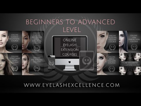 ONLINE EYELASH EXTENSIONS COURSE - YouTube