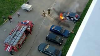 пожар машин