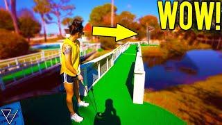 We Found A Crazy HUGE Mini Golf Course!