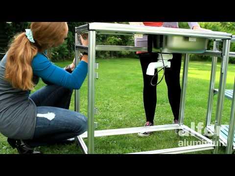 Outdoor-Küche mit coaxis®-System-Profilen
