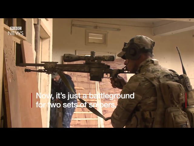 Mosul: Iraqi troops hunt deadly IS snipers – BBC News