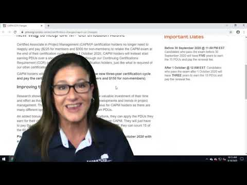 Big Changes for the CAPM Certification - YouTube