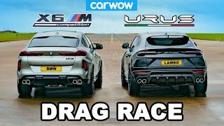 [carwow] Lamborghini Urus v BMW X6M - DRAG RACE