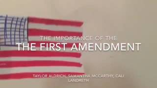 The importance of the first amendment