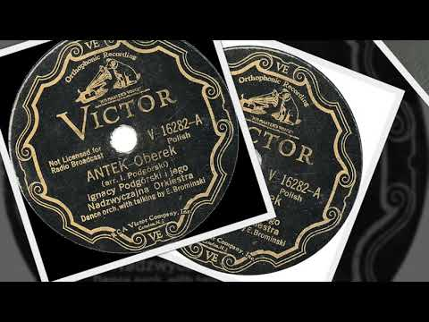 Polish 78rpm recordings, 1933. VICTOR V-16282. Antek {Anthony} –oberek