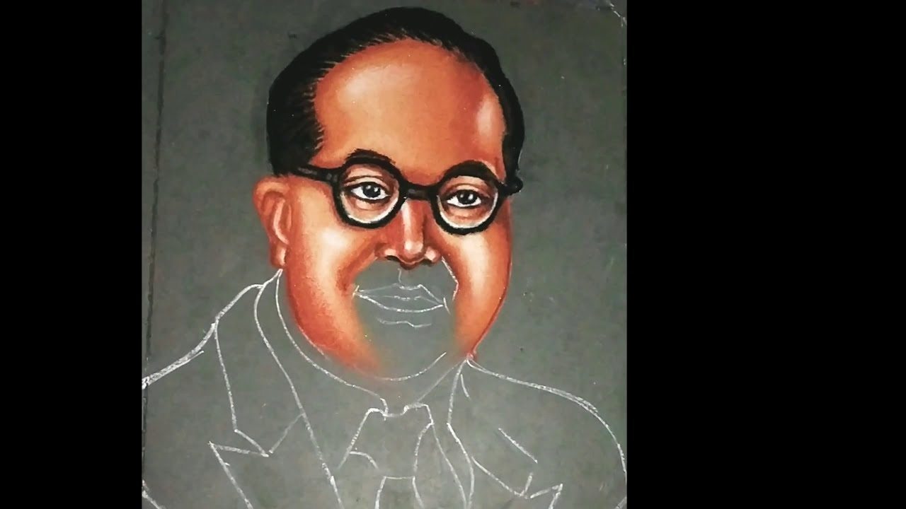 portrait rangoli art indian jurist ambedkar by jyoti