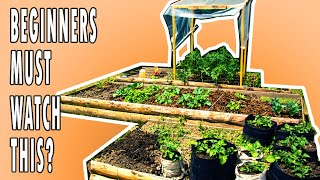6 STARTING TIPS   Square Foot Gardening In Raised Beds (Do You Know Them ALL?)