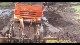 Трактор КИРОВЕЦ. Вытаскивал КАМАЗЫ. Небольшой гряземес.