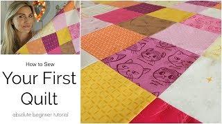 Your First Quilt - Beginner Tutorial, Part 1