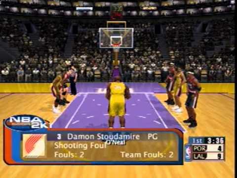 NBA 2K1 Sega Dreamcast Gameplay