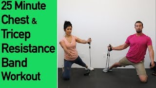 Chest and Tricep Resistance Band Workout -  by ACHV PEAK