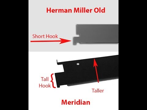 Meridian and Herman Miller Old Style File Cabinets Comparing File Bars and Hanging File Rails