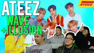 "ATEEZ   ""WAVE"" And ""ILLUSION"" (MV Reaction)"