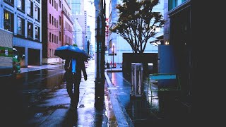 Walking in the RAIN in JAPAN, 3D Rain Sounds with City Ambience to Relax & Study, Binaural Rain ASMR